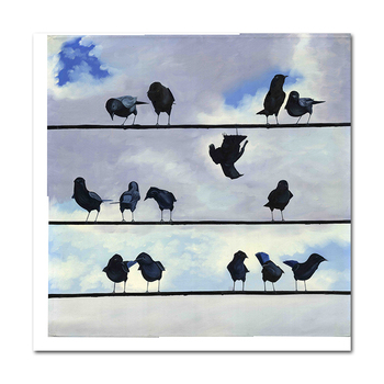 Modern minimalist canvas print poster decorated living room without frame Birds Picture Wall Art Paintings