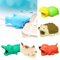 Universal New Cute Animal Cable Protects Saver Mobile Accessories Phone Case Cable Protector for Phone