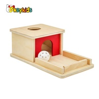 2019 Best design Montessori Materials wooden permanence box with tray and ball W12F083