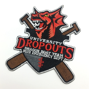 Wholesale Custom Embroidered Logo Applications Badges 3D Foam Embroidery Patches for Garment