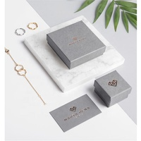 Wholesale eco luxury fancy custom small 2 pieces rigid cardboard hard paper necklace earring gift packaging jewelry box ring box