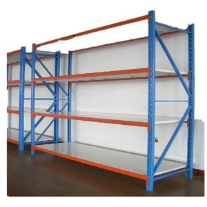 Space saving height adjustable medium duty load racking system