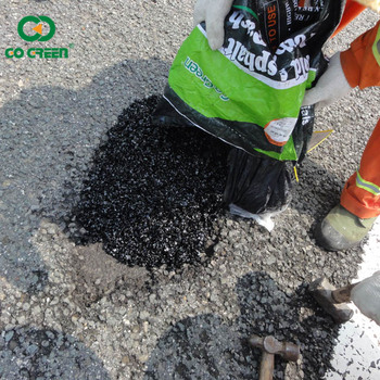 Go Green cold mix asphalt pothole repair easy construction road repairing material