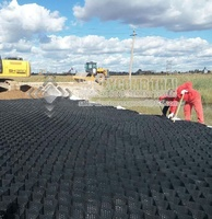 road construction grid plastic hdpe geocell with 550mm