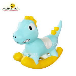 inflatable baby rocking horse model inflatable jump toys kids riding animal toy