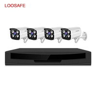 2MP 4 CH Bullet H.265X Alarm System Security Cameras Ip66 Outdoor Waterproof CCTV POE Camera System