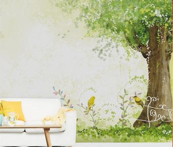 Behang Boom Kinderkamer.Vogels En Boom Patroon Muur Papier Vinyl Nonwoven Waterdicht Behang Wandbekleding Voor Kinderkamer Buy Muur Papier Vogels En Bloemen Behang 3d