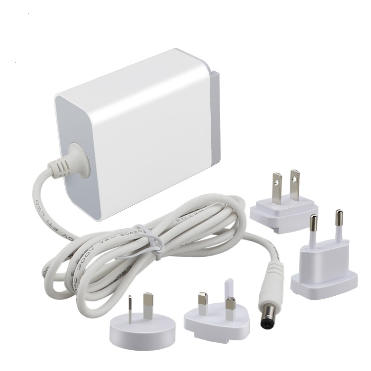 Jenis dinding dipertukarkan plug 24 v 1a 2a 5a ac dc adaptor 20 w 30 w 24 w 12 v 24 v power supply adapter