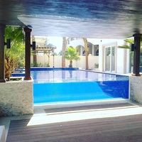 China factory custom swimming pool transparent acrylic wall prices