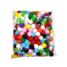 DIY Handmade Decorative Accessories Color Craft Pom Poms Wholesale15Mm Mixed Color Bagged Assorted Pompom