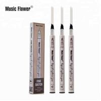 PRIVATE LABEL cosmetic 4 color options fine sketch microblading waterproof eyebrow pencil