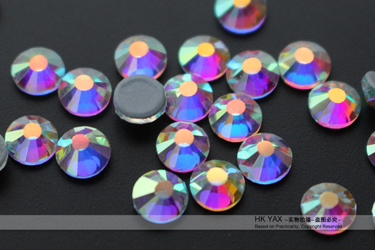 0912W FREE SHIP 1440pcs 10ss topaz iron-on rhinestone 16 cuts strong glue heat transfer rhinestone crystals china wholesale