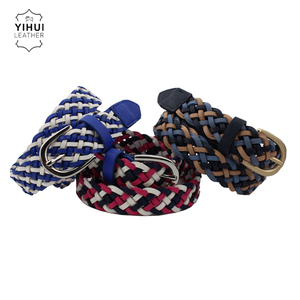 High Quality Braided Colorful Slim Fashion Women Belt For Dress