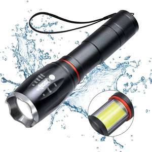 Super Bright Waterproof Powerful COB Work Light Magnetic Base 10W XML T6 COB LED Tactical Flashlight With Zoom