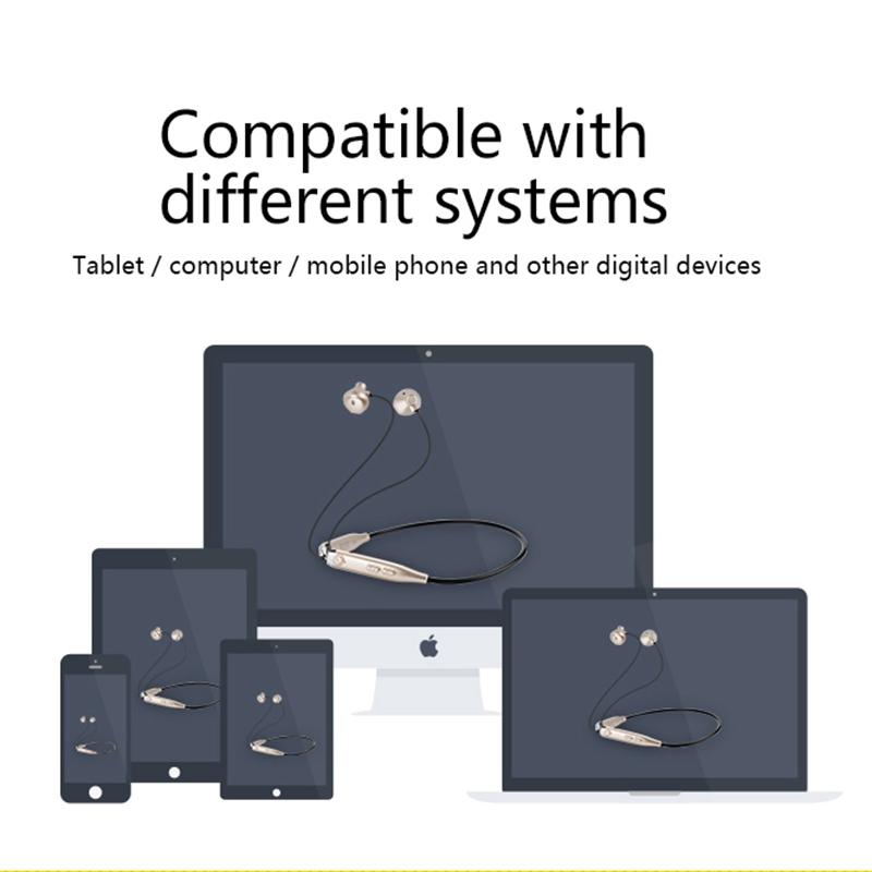 Wireless Earphone Stereo Headset 4.1 NFC Earphone Handsfree Mic Voice Fast Anti Lost Headset
