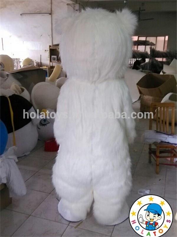 Hola костюмы мультяшных персонажей/Полярный медведь костюм талисмана