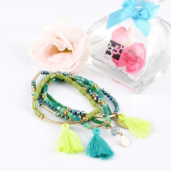 2019 fashion  Best Selling Cheap Price DIY Glass Beads Bracelets Top Quality For Gift