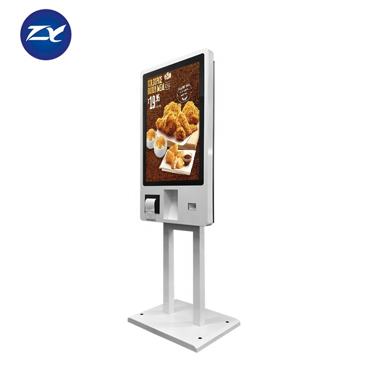 Fast Food Restaurant 32 Inch All In One Touch Self Service Payment Ordering Kiosk
