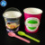 6.5oz personalized custom logo ice cream bowl use degradable paper cup