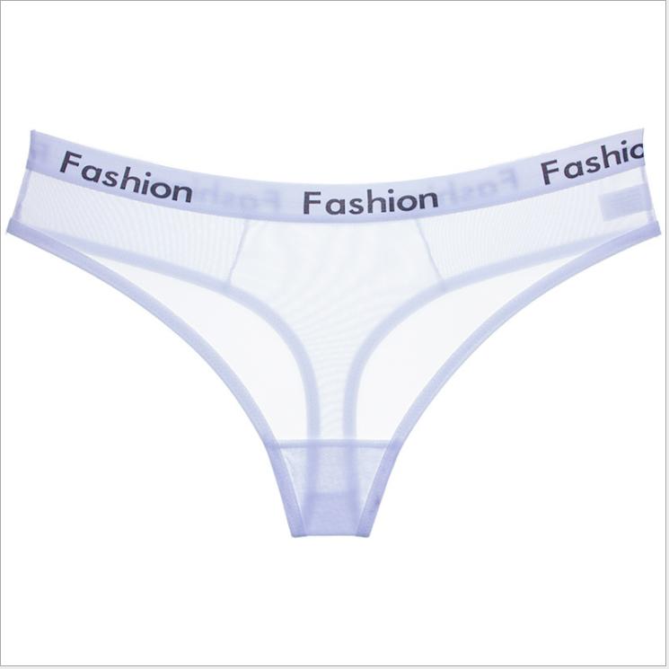 d83dc2193b5f Mujer Sexy bragas transparentes tangas de encaje V-cuerdas de bajo aumento  breve ropa interior