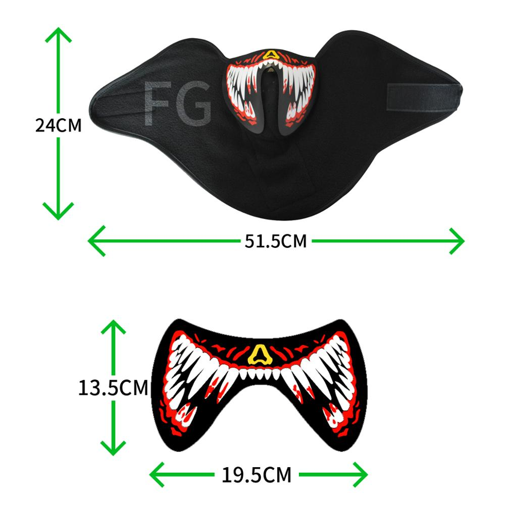 hot sale high brightness mini masquerade el mask led mask