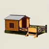 Novelty XXL Dog Cage Trap Wooden Pet House wholesale dog house