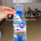 NY/PE plastic bottle shaped pouch for mineral water beverage drinking