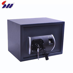 Hotel use cash storage metal secret hidden wall mounted safe box with fingerprint protection