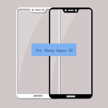 2.5D 9H Silk printing FULL Glue cover Tempered glass screen protector for Sharp Aquos S3