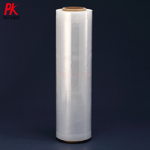 Transparent Pallet PE Stretch Film Shrink Wrapping Roll Clear Plastic Wrap For Shipping