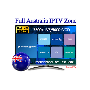 Australia IPTV Channels TV Box Including 500+LIVE/5000+VOD Providing IPTV Reseller Panel and 24 hours Free Test Code Dragon IPTV