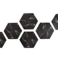 Tabletex black marble coaster for drink paper printed MDF cork backed placemat