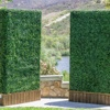 New products uv boxwood artificial hedge in planter for garden decoration