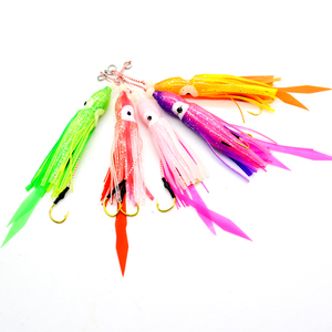 12cm Soft Octopus Trolling Fishing Lures Squid Skirts Fishing Baits Tuna Tail Fish Tackle Craft for Jigging Rigs