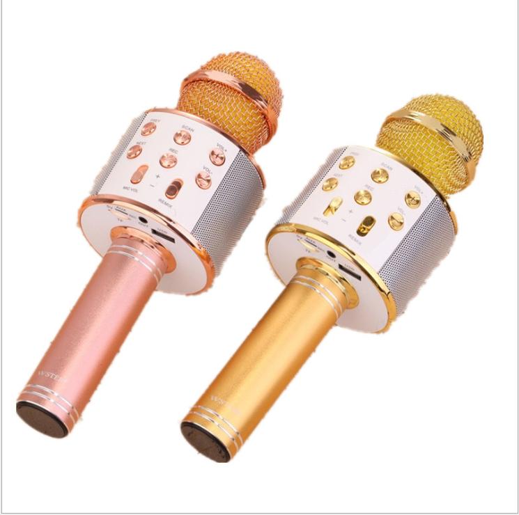 Mobile phone karaoke Wireless home microphone Bring their own audio WS858