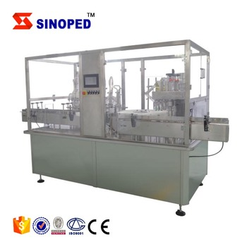 Low Speed Automatic Oral Liquid Glass Tube Bottle Small Filling Capping Machine
