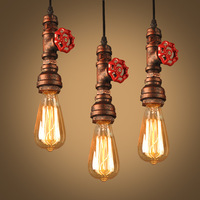 Industrial vintage retro water pipe pendant light lamp