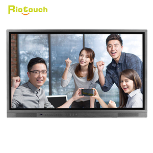 Riotouch OEM 40 Points IR touch 75 inch high brightness LCD monitor interactive flat panel