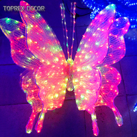 Wedding souvenirs guests 3d motif butterfly fairy led light butterfly wings