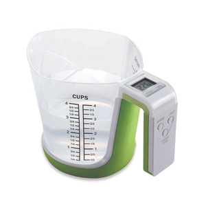 5kg plastic measuring cup water coffee digital kitchen food scale