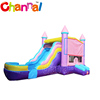 Pink jumping castles inflatable water slide inflatable bouncer