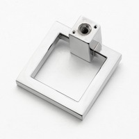 Shiny chrome square ring kitchen cabinet drawer pulls