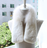 Attractive Design New Long Real Fox Fur Collar Scarf Women & Men Spring Winter Warm Solid Jacket Coat Shawls