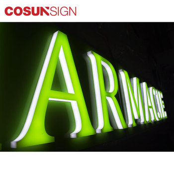 Factory Frontlit Led Letters Facelit Signs Channel Illuminated Signage Shop  Name Front Use Signboard - Buy Acrylic Letter Sign,Red Luminous Acrylic