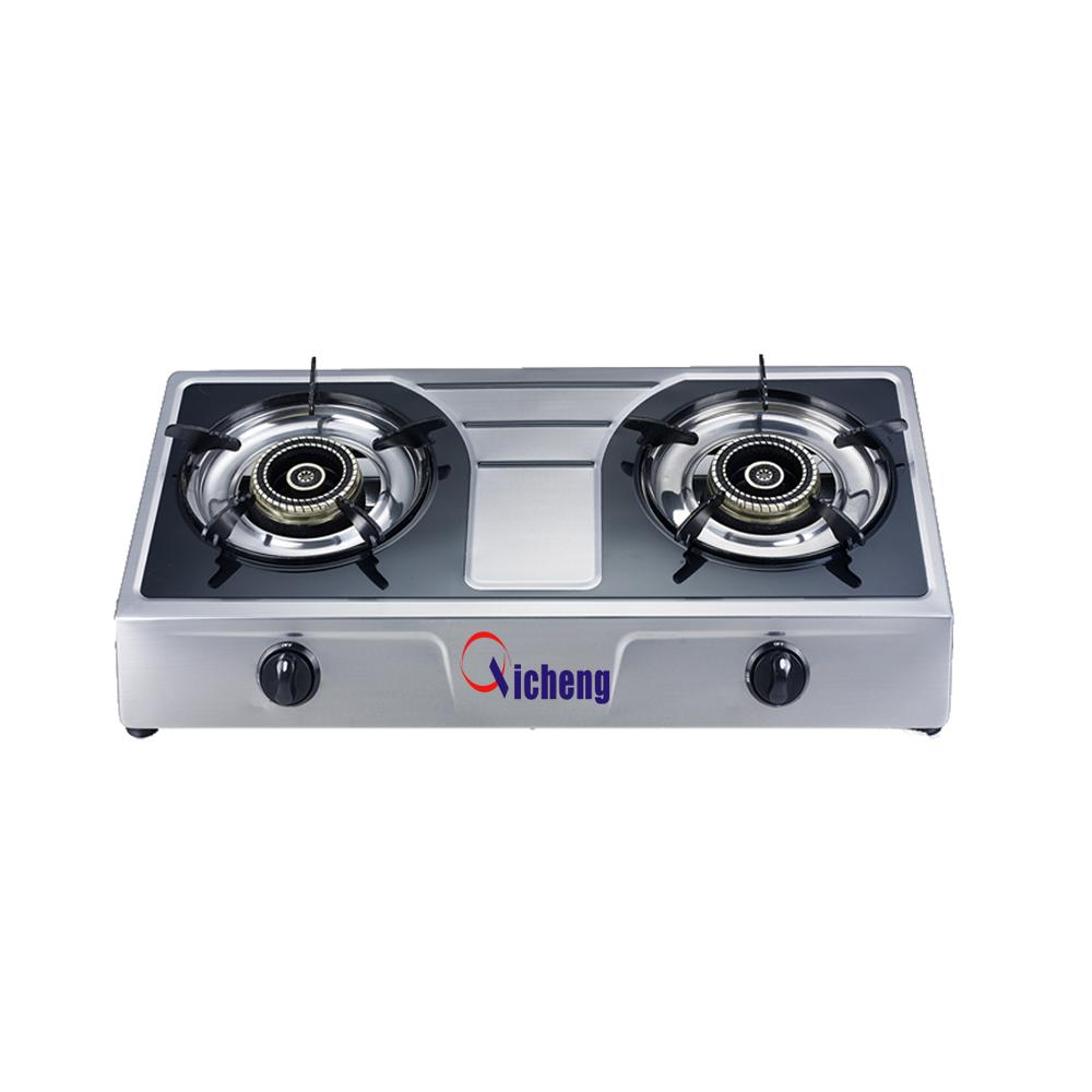 kitchen appliance 2 burner gas stove gas cooktop