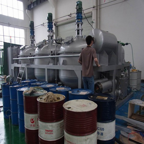 Sludge oil black oil waste oil refining plant engine oil for Used motor oil recycling equipment