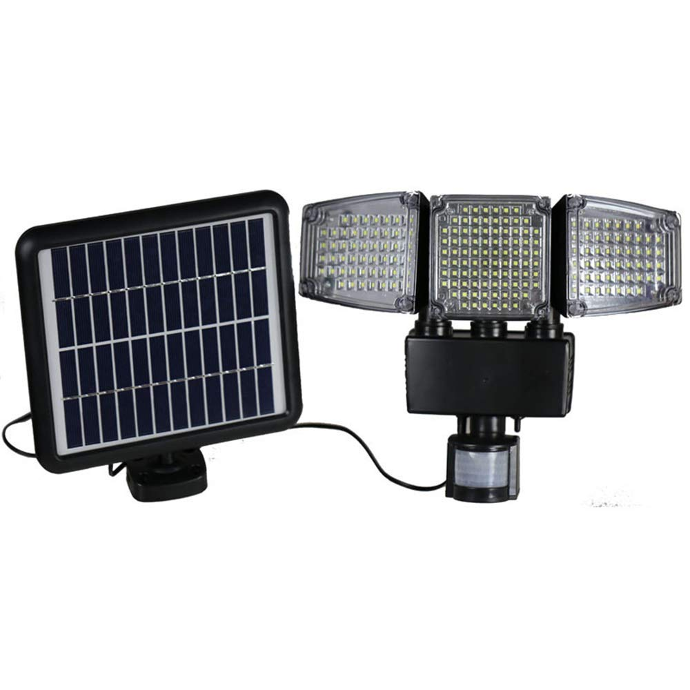 Solar Lights Motion Sensor 188 LED 1000 Lumens Outdoor Sensor Light Waterproof Triple Head Flood Lamp