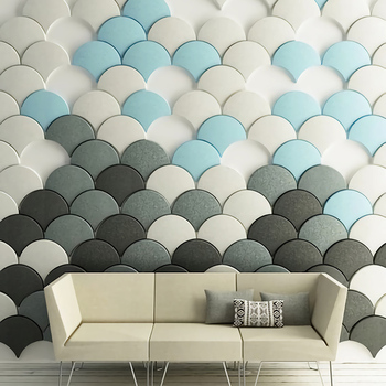 Modern art 3D wall panels peel and stick wallpaper for home decoration
