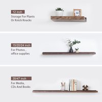 Floating Shelves Display Wooden Wall Mount Ledge Shelf Picture Record/Album Photo Ledge Small Hanging Kids Wall Bookshelf