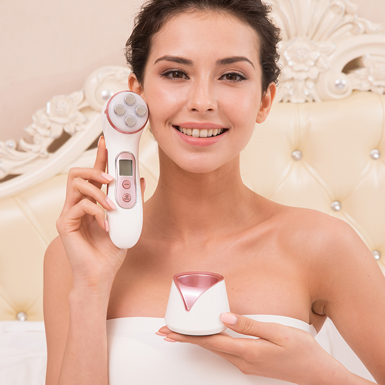RF/EMS Vibration Ion Sonic Facial Ultrasonic Spot Removal Beauty Instrument